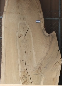 California White Oak Live Edge Slab, S107