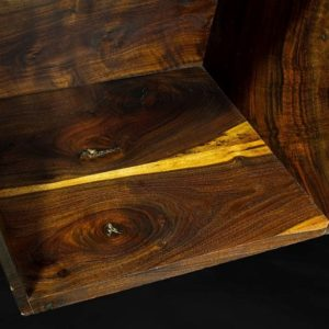 Claro Walnut Live Edge Slab Shelf, JE1