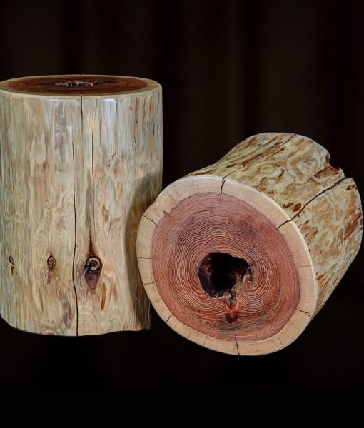 Redwood Log Side Tables - priced individually, JE100