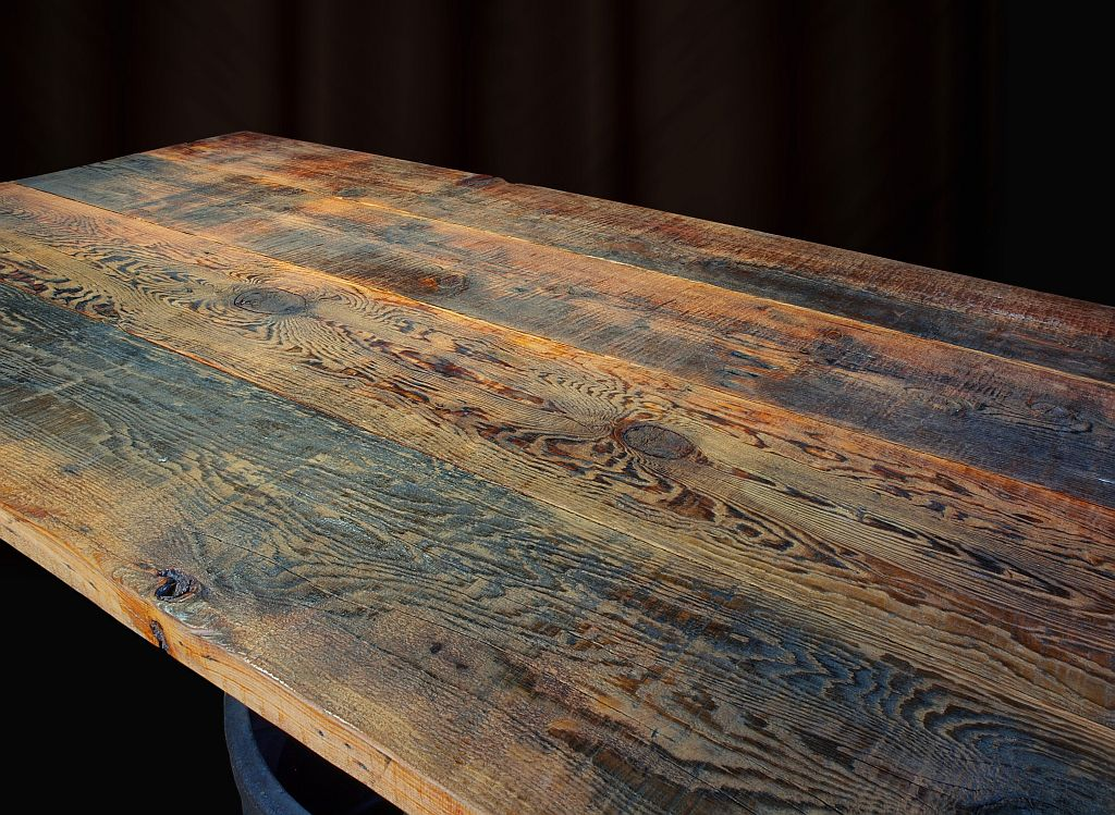 Reclaimed Doug Fir Table With Bench Seats, T100