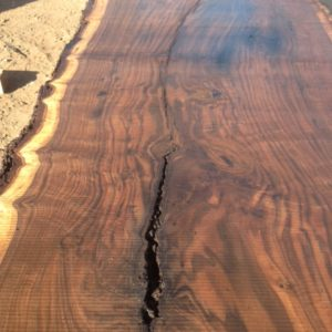 California Claro Walnut Live Edge Slab, FW1604