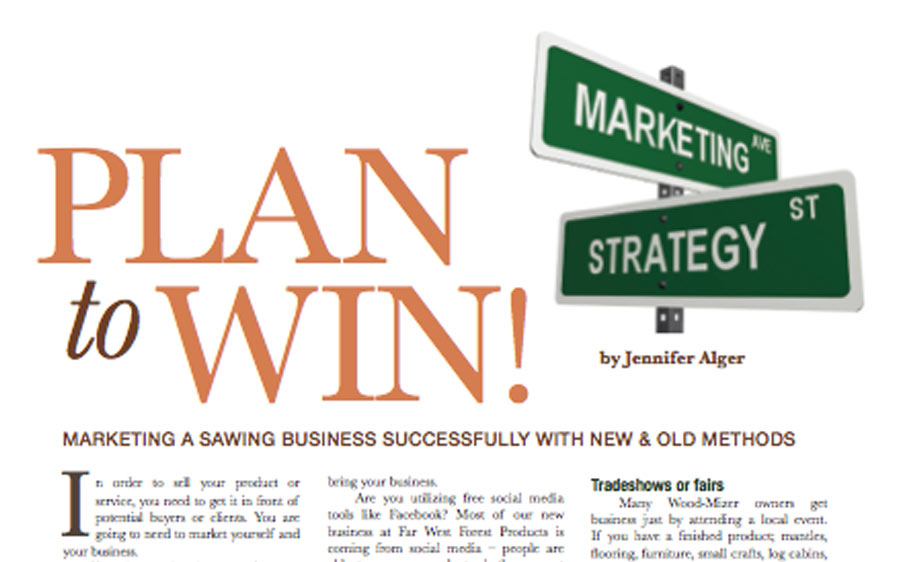 an image of an article with the words 'PLAN to WIN' in large letters next to street signs that say 'Marketing' and 'Strategy'