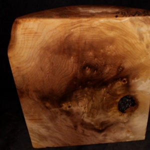 Myrtle Wood Fancy Burl Turning Block, SJMY140