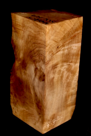Myrtle Wood Turning Block With Pin, SJMY142
