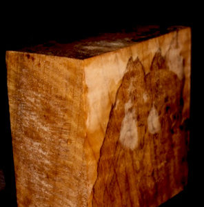 Myrtle Wood Spalted Turning Block, SJMY123