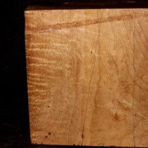 Myrtle Wood Fiddleback Turning Blank, SJMY128