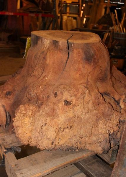 Walnut Burl Coffee Table Base, FW1034