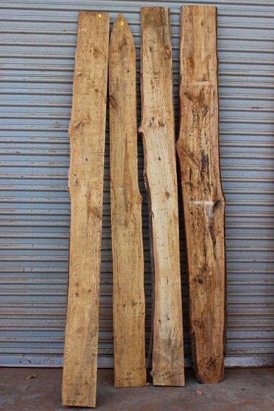 Spalted Tan Oak Set of Four, JKSET2