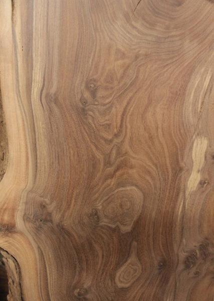 Claro Walnut Slab with Natural Edge, FW1201