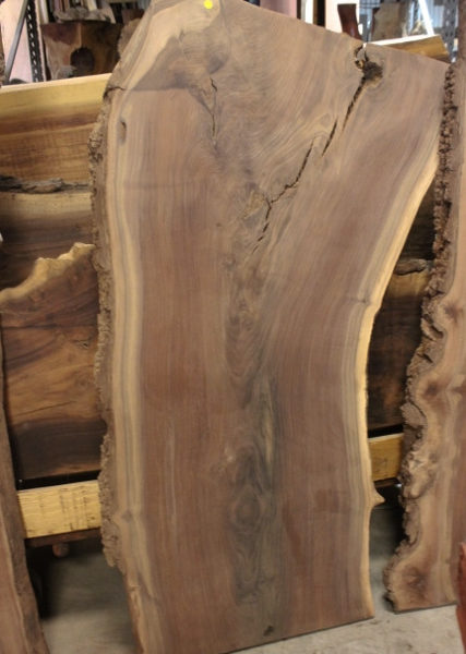 Claro Walnut Live Edge Slab, FW1202