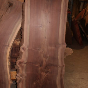 California Claro Walnut Live Edge Slab, FW1203