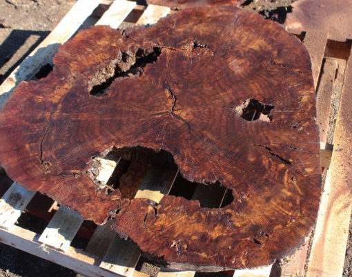 California Claro Walnut Burl Round, GM121515-14