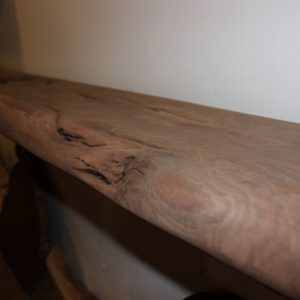 Wormy California Claro Walnut Sanded Mantel, FW051916-1