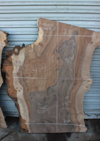 bastogne walnut slab beautiful coloration ranging from dark grey to light brown or tan color