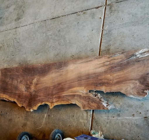 walnut slab with rustic charm