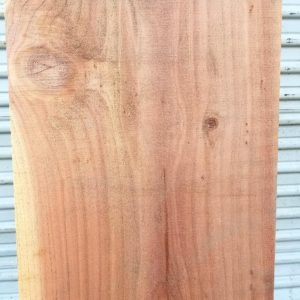 close up view of redwood board visible sap wood