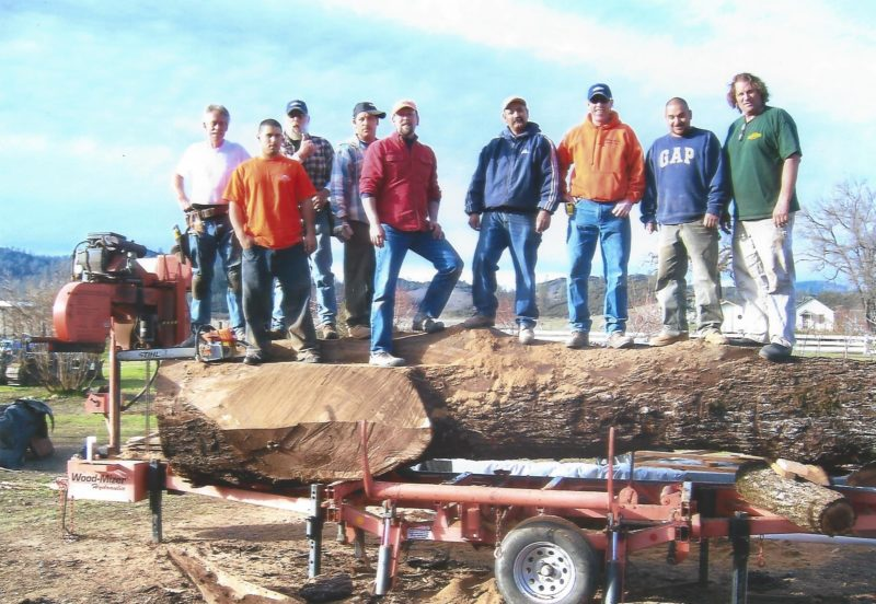 Carter Construction Crew on the Wood-Mizer LT40 sawmill