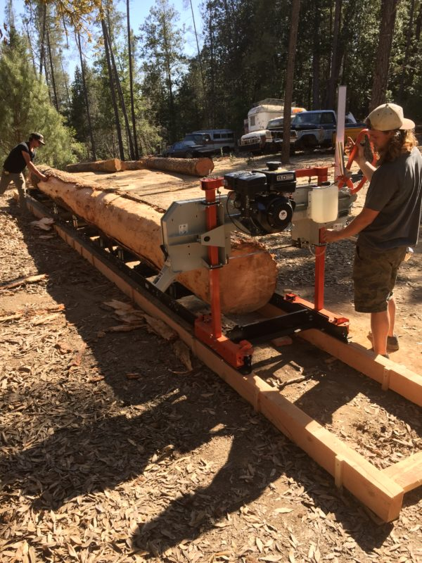 Carter Construction uses his Wood-Mizer and Timbery Sawmills
