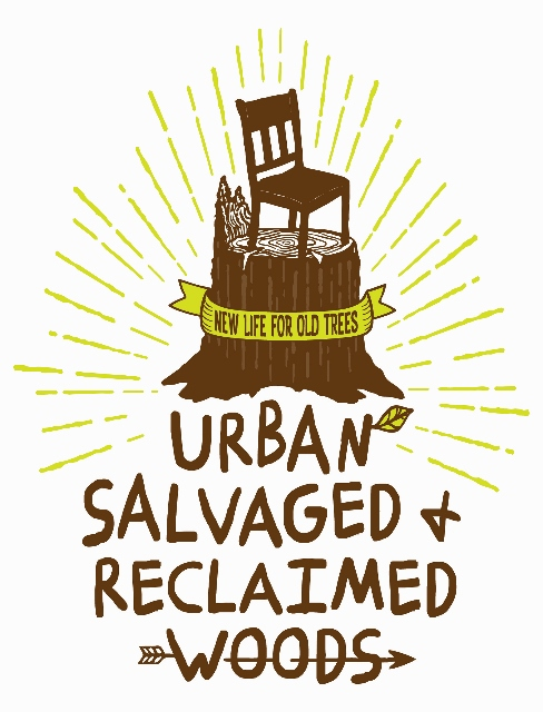 Urban, Salvaged, & Recalimed Woods Inc. colored logo