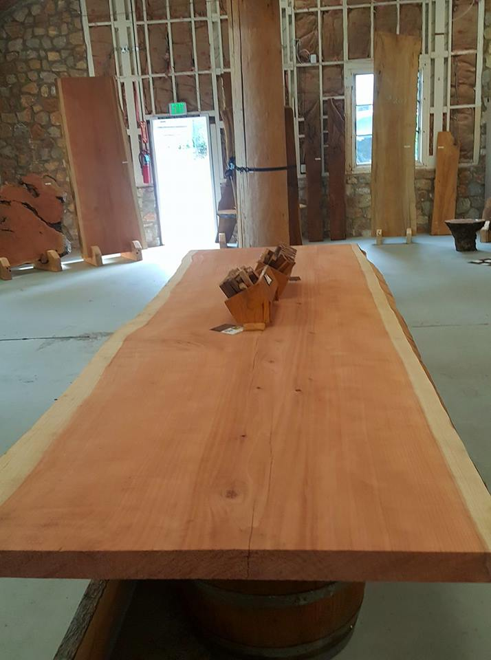 Coastal Redwood Table wood slab, live edge